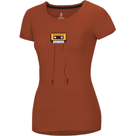 Ocun Classic T-Shirt Donna, retro tape rooibos tea